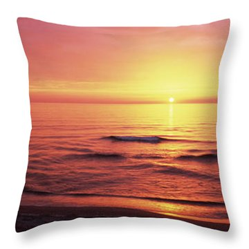 Sunset Over The Sea, Venice Beach Throw Pillow by Panoramic Images
