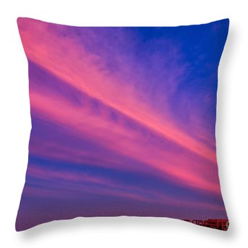 Sunset Rays Throw Pillow by Adrian Evans