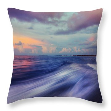 Sunset Wave. Maldives Throw Pillow by Jenny Rainbow
