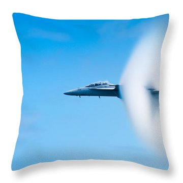 Super Sonic Throw Pillow by Sebastian Musial