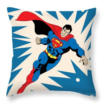 Superman 8 Throw Pillow by Mark Ashkenazi