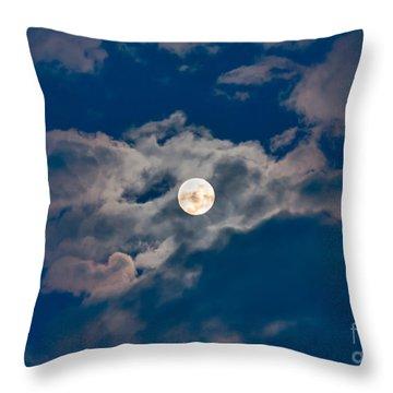 Supermoon Throw Pillow by Robert Bales