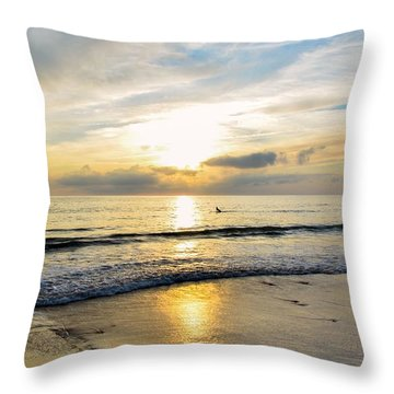 Throw Pillow featuring the photograph Surf In Light by Thierry Bouriat