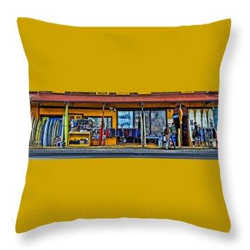 Surf N Sea Throw Pillow by DJ Florek