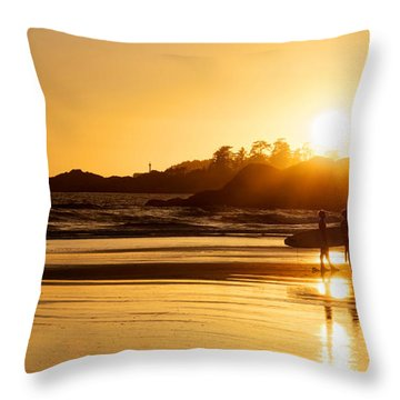 Surfing Reflections Throw Pillow by Lisa Knechtel