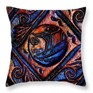Surfing The High Seas Of Life Throw Pillow by Susanne Still