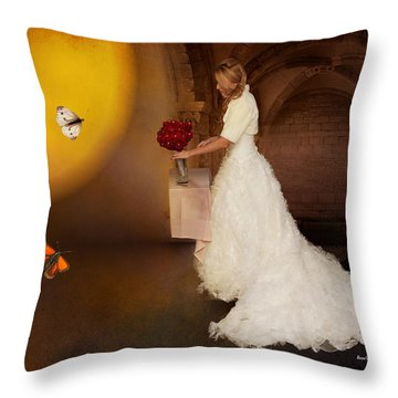 Surreal Wedding Throw Pillow by Angela A Stanton