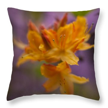 Surrealistic Blooms Throw Pillow by Mike Reid