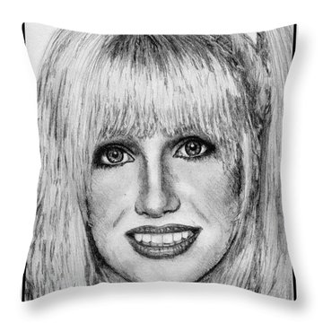 Suzanne Somers In 1977 Throw Pillow by J McCombie