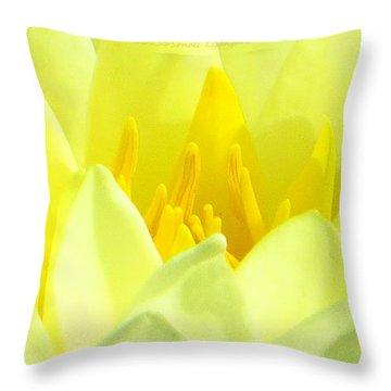 Swarna Kamal Throw Pillow by Sonali Gangane