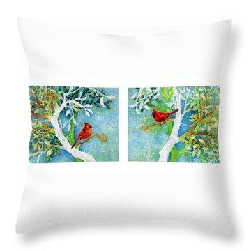 Sweet Memories Diptych Throw Pillow by Hailey E Herrera