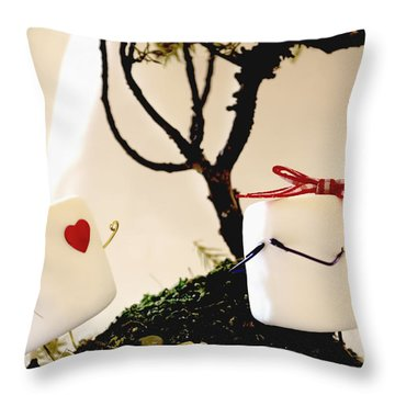 Sweet Surprise Throw Pillow by Heather Applegate