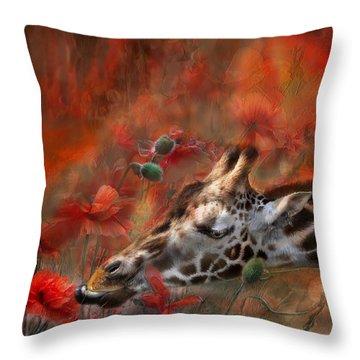 Sweet Taste Of Spring Throw Pillow by Carol Cavalaris
