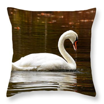 Swim And Grace Throw Pillow by Lourry Legarde