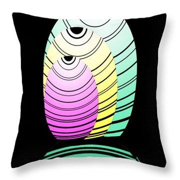 Swim Swim  Throw Pillow by Christine Fournier