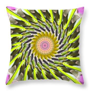 Swirl Throw Pillow by Bobbie Barth