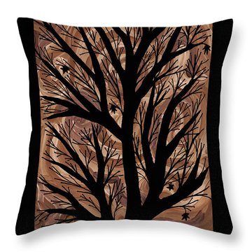 Swirling Sugar Maple Throw Pillow by Barbara St Jean