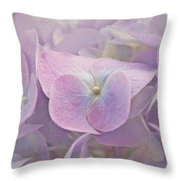 Symphony In Purple Throw Pillow by Kim Hojnacki