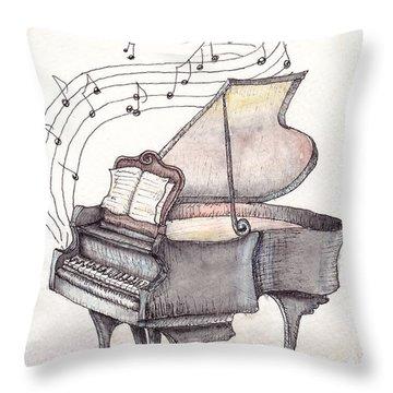 Symphony Throw Pillow by Theresa Stinnett