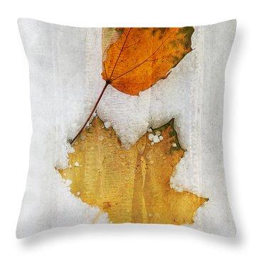 Synchronized Snow Dance Throw Pillow by Terri Harper