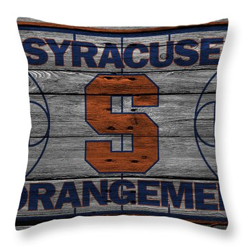 Syracuse Orangemen Throw Pillow by Joe Hamilton