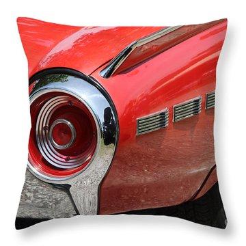 T-bird Tail Throw Pillow by Dennis Hedberg