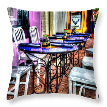 Table For Six Throw Pillow by Debbi Granruth