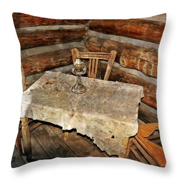 Table For Three Throw Pillow by Marty Koch