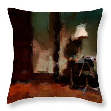 Table Lamp Chair Throw Pillow by H James Hoff