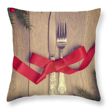 Table Setting Throw Pillow by Amanda And Christopher Elwell