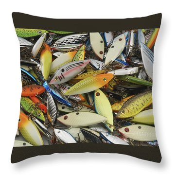Tackle Box Tangle Throw Pillow by Jerry McElroy