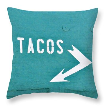Tacos Throw Pillow by Art Block Collections