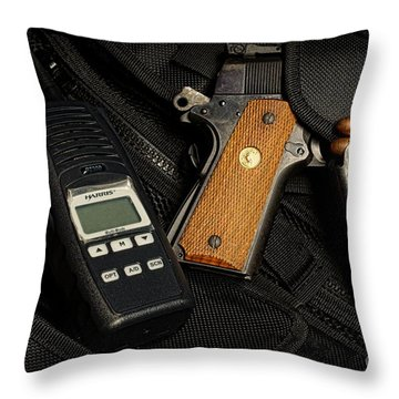 Tactical Gear - Gun  Throw Pillow by Paul Ward