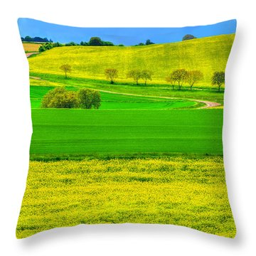 Take Me Home Country Road Throw Pillow by Midori Chan