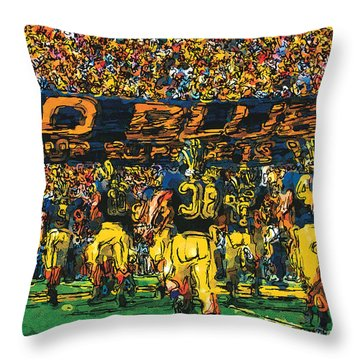 Take The Field Throw Pillow by John Farr