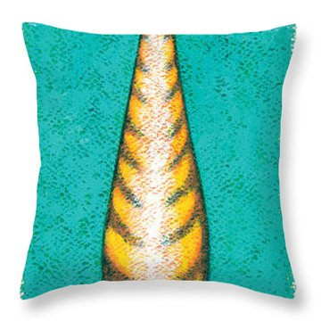Tall Cat Two Throw Pillow by Brian James