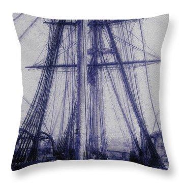 Tall Ship 2 Throw Pillow by Jack Zulli