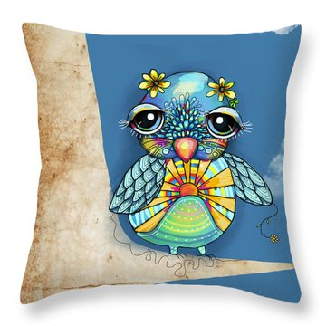 Tallulah Sunshine Throw Pillow by Karin Taylor