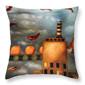 Tangerine Dream Edit 2 Throw Pillow by Leah Saulnier The Painting Maniac