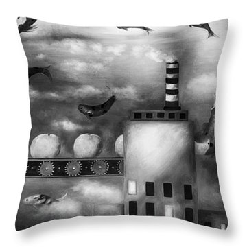 Tangerine Dream Edit 3 Throw Pillow by Leah Saulnier The Painting Maniac