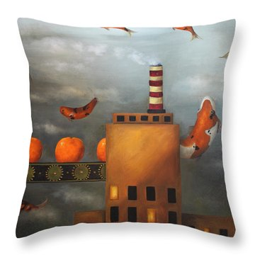 Tangerine Dream Throw Pillow by Leah Saulnier The Painting Maniac