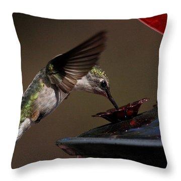Tanking Up Throw Pillow by Douglas Stucky