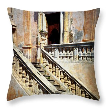 Taormina Staircase Throw Pillow by Carla Parris