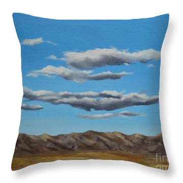 Taos Clouds Throw Pillow by Mary Rogers