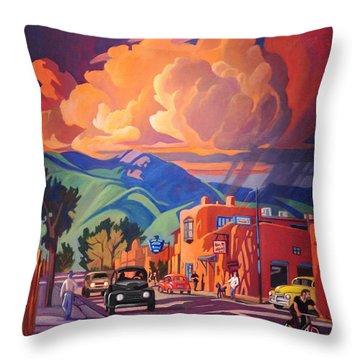 Taos Inn Monsoon Throw Pillow by Art James West