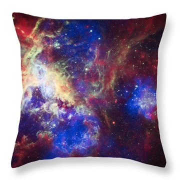 Tarantula Nebula 6  Throw Pillow by The  Vault - Jennifer Rondinelli Reilly