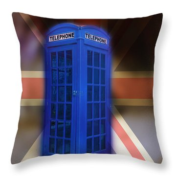 Tardis Throw Pillow by Bill Cannon
