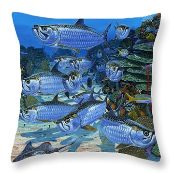 Tarpon Alley In0019 Throw Pillow by Carey Chen