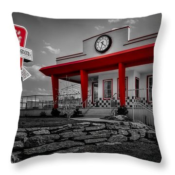 Taste Of The Fifties Throw Pillow by Susan Candelario