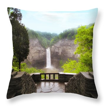 Taughannock Falls Throw Pillow by Jessica Jenney